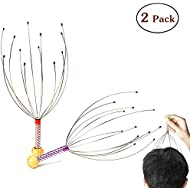 AMEISEYE Hand Held Scalp Head Massager Therapeutic Head Scratcher for Deep Relaxation (2 Pack/Colors Random)