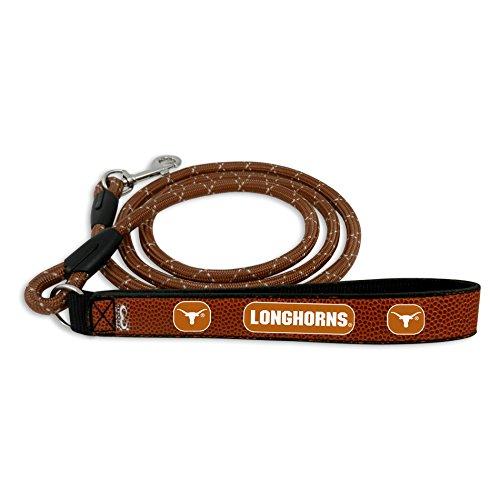 GameWear NCAA Texas Longhorns Football Leather Rope Leash, Large, Brown