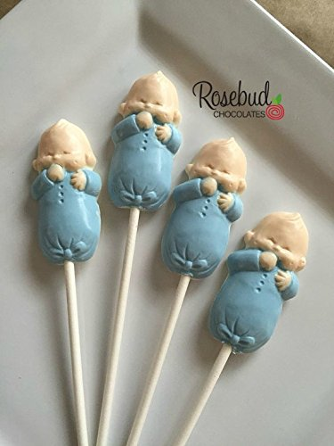 INFANT BLUE BABY BOY Chocolate Lollipops Candy Party