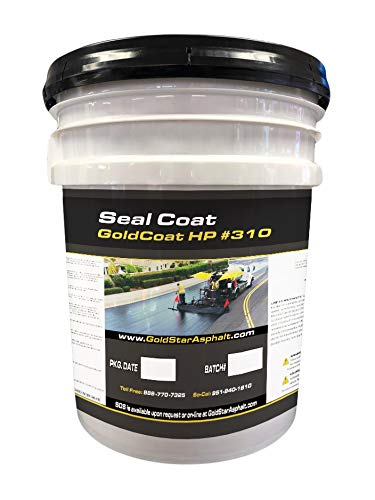 GoldStar Asphalt Sealer. Just Pour and Spread. Seal Streets, Driveways and Blacktop. 5GL Bucket