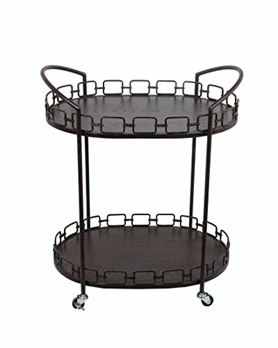 Privilege Oval Bar Cart – Rusted Black