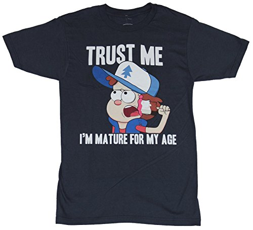 Gravity Falls Mens T-Shirt - Dipper Trust Me I'm Mature For My Age Sld Backgrnd