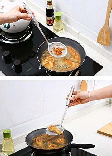 Skimmer Spoon for Hot Pot Mesh Strainer Fat Oil Filter Skimming Grease and Foam