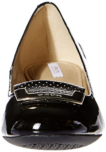 col Geox Noir C9997 Tacco Scarpe Donna Punta Chiusa ggr5HY