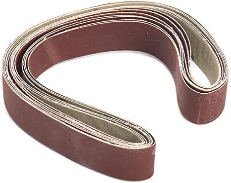 7pcs 1x30 Inch 80-1000 Mixed Grit Sanding Belts Set Aluminium Oxide Abrasive