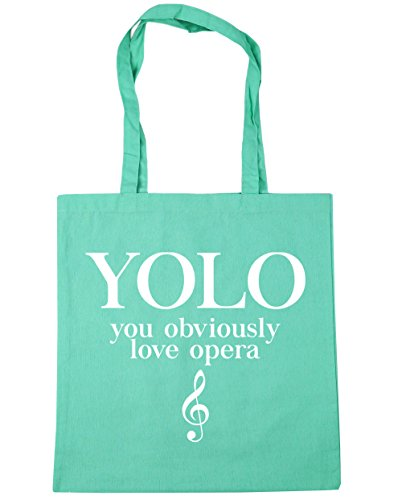 Mint 42cm Opera Shopping Bag YOLO Gym litres HippoWarehouse Tote You Beach Love 10 x38cm Obviously wABq6Ca