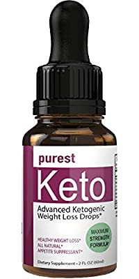 Purest Keto Appetite Suppressant Drops Liquid Fatburner Weight Loss Drops | Control Hunger Weight Loss Supplement Appetite Suppressant Naturally Formulated Fat Burner Diet Plan Quick Weight Loss