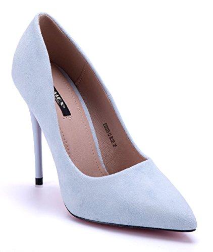 Schuhtempel24 Damen Schuhe Klassische Pumps Blockabsatz 12 cm High Heels