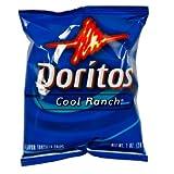 Doritos Cool Ranch Tortilla Chips, Single-serve, 1 Oz Bag (Pack of 104)