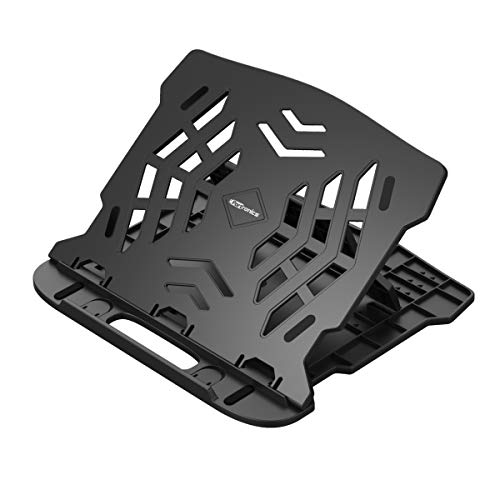 Portronics My Buddy Hexa 22 POR-1157 Portable Laptop Stand with 7 Adjustable Angles 360 Degree Rotational Base(Black)