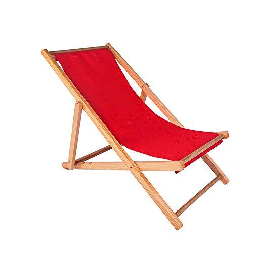 ZLJTYN Folding Sun Lounger Beach Chair, Folding Chair, Solid Wood Recliner, Canvas Chair, Lunch Break Chair, Chair, Outdoor Portable Chair, Accompanying Chair Lazy Chair, 2 PACK