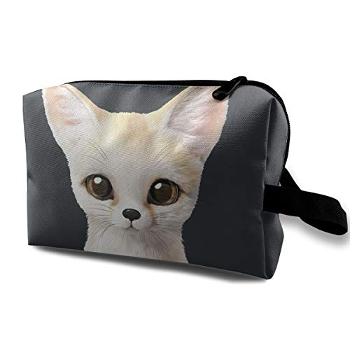 Multicolor Multi-functional Travel Cosmetic Bag White Cat -