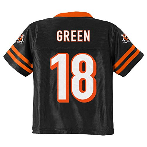 (Outerstuff A.J. Green Cincinnati Bengals #18 Black Youth Home Player Jersey (Large 14/16))