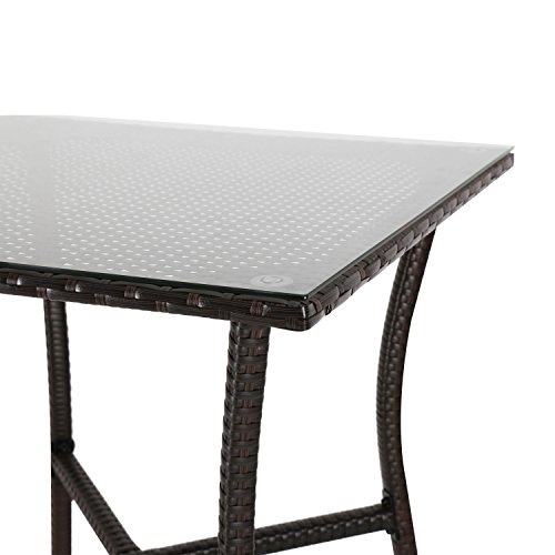 Kinbor Patio Outdoor Wicker Barstool Set Pool Furniture Patio High Chair (Bar Height Bistro Table) by Kinbor (Image #3)