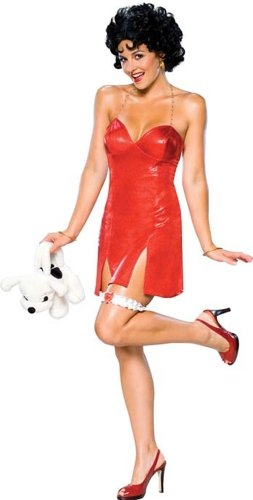 [Betty Boop Deluxe Short Dress Costume (Medium)] (Betty Boop Wig)