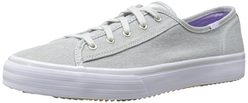 Keds Women's Double Up Heathered Canvas Fashion Sneaker, Gray, 8.5 M US