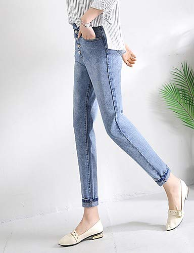 Basic Blue High Vrac Jeans YFLTZ en Pantalons Femmes Color Solid pour zvwwt8q