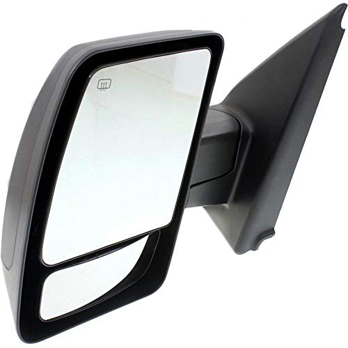 Heated Textured Black New Left Driver Side Power Mirror For 2012-2017 Nissan NV-Series Manual Folding SL//SV Models NI1320234 Without Signal Light