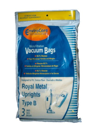 9 Royal Upright Type B Vacuum Cleaner Allergy Bags, Top Full Vacuum Cleaners, RO-2-066247-001, Royal 3067247001, 3-067247-001, 3-671075-001, Royal 3671075001, 673Z, 7730Z, 673Z (Royal B Vacuum Bags compare prices)