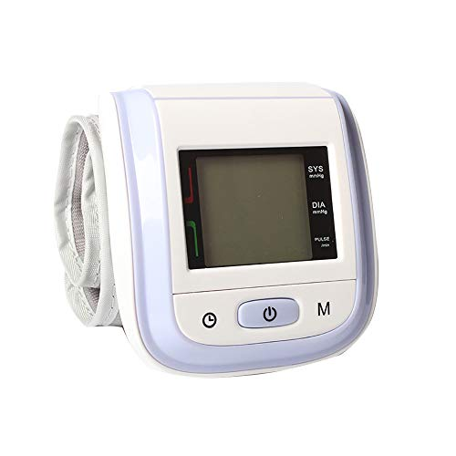 LANYAJI Wrist Blood Pressure Monitor,Large Display & Buttons Automatic Digital One Touch Operation for Home Use -Universal Cuff,Purple