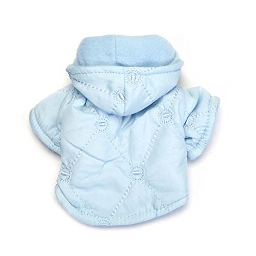 East Side Collection Polyester Quilted Pastel Dog Jacket, Teacupcup, 6-Inch, Blue