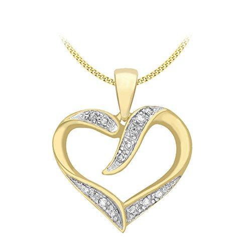 Carissima Gold - Collier - 1.45.5670 - Femme - Or Jaune 375/1000 (9 cts) 1.25 gr - Diamant - 46 cm