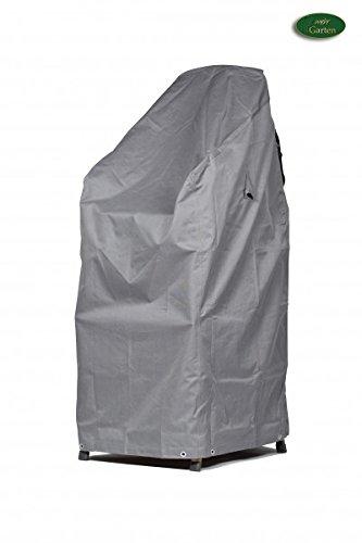 Premium Schutzhülle für Stapelstühle/Gartenstühle aus Polyester Oxford 600D - lichtgrau - von 'mehr Garten' - Größe XL