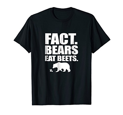 Fact Bears Eat Beets T-Shirt Funny Carnivore & Veggie Tee