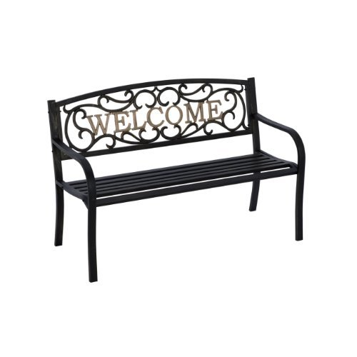 Living Accents Park Bench Welcome 50.5