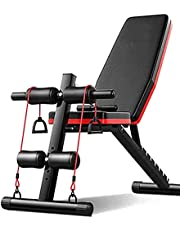 BESTSHOP- Multifunctional foldable dumbbell bench, used for weightlifting and abdominal exercises at home, as well as Knight's leg exercises