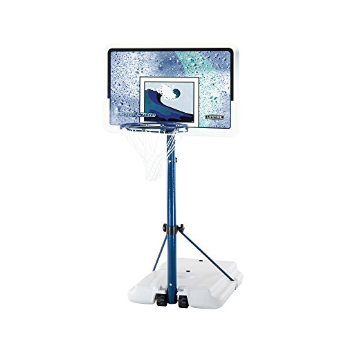 Lifetime 1301 Pool Side Basketball System, 44 Inch Backboard by Lifetime