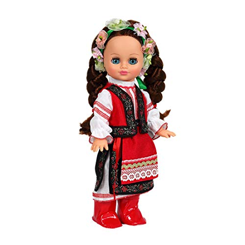 Vesna 13.8'' Ella in Ukrainian Costume Interactive Russian Talking Doll - Educational Doll (Ella)]()