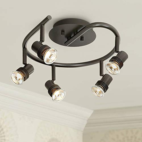 Pro Track Spiral Bronze 5-Light Ceiling Fixture - Pro Track