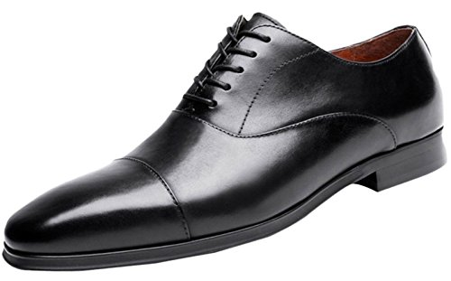 1712/5000 Herren Derby Schuhe Kleid Schuhe Formelle Leder Oxfords Lace Up Black Brown Black