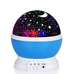 Kids Star Night Light, 360-Degree Rotati...