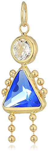10K Gold AAA Cubic Zirconia Simulated Birthstone Babies Girl Charm, September