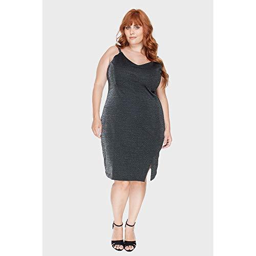 Vestido Glamour Plus Size Preto-46