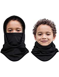 Kids Balaclava for Outdoor Sport Face Warmer, Thicker Fleece Hood Neck Warmer for Cold Weather, 1 Piece