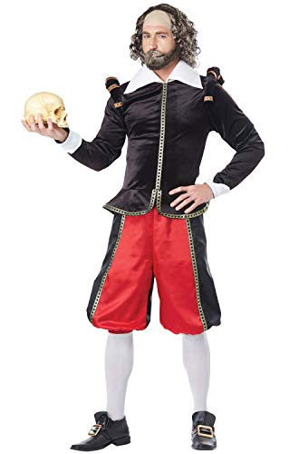 California Costumes Men's William Shakespeare-Adult Costume, Black/Red, -