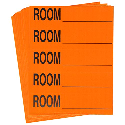 (Tag-A-Room Color Coded Home Moving Packing Box Labels (Room Blank)