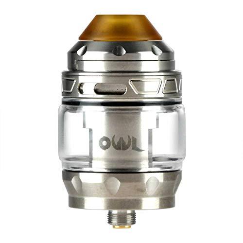 Advken OWL Tank Clearomizer 3 ml / 4 ml, Riccardo Verdampfer für e-Zigarette, silber