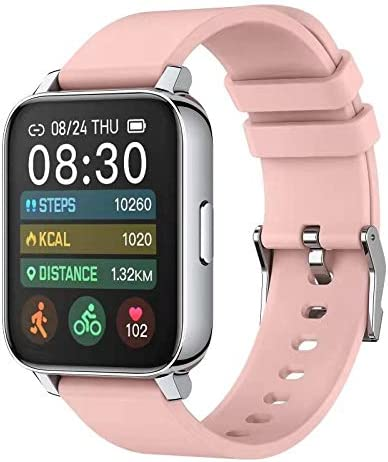 Rogbid Rowatch 2 Smart Watch for Women 1.69'' Full Touch Screen Fitness Activity Tracker Smart Watch IP68 Waterproof smartwatch Heart Rate Blood Oxygen Monitor Sleep Monitor for Android iOS (Pink) 1