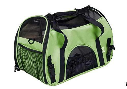 FidgetGear Pet Dog Cat Carry Bag Pouch Patrol Shoulder Strap Trvavel Backpack Carrier Tote Green M