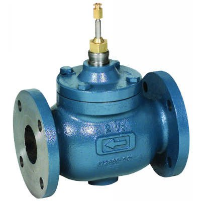 2-1/2 inch Two-Way Flanged Globe Valve, 63 Cv from Honeywell, Inc.