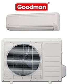goodman 12 000 btu msh123e15ax ductless mini-split cooling and heating with  installation kit 15