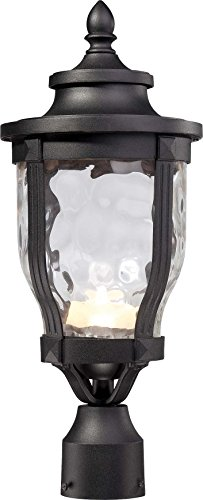 Minka Lavery Outdoor Post Lights 8766-66-L Merrimack Cast Aluminum Exterior LED Lighting Fixture, Black