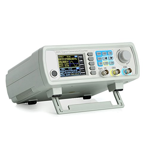 Koolertron Upgraded 60MHz DDS Signal Generator Counter,High Precision Dual-channel Arbitrary Waveform Function Generator Frequency Meter 200MSa/s (60MHz)