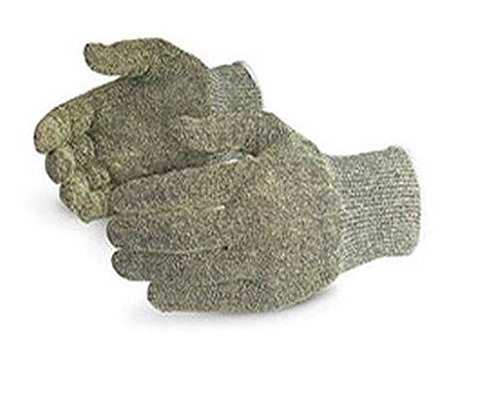 Superior S13CX Emerald CX Kevlar/Stainless Steel String Knit Glove, Work, Cut Resistant, 13 Gauge Thickness, Size 7 (Pack of 1 Pair) - Kevlar String Knit Glove