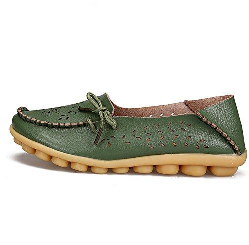 Cuero Green Army Zapatilla QFISH de Mujer Baja R8wZOpq7