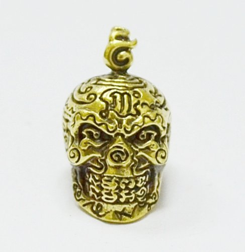 Authentic Buddha Amulets Thai Pendants Skull Amulet LP Lek,Wat TamKaoNoi,Phetchaburi Province Thailand by Thai Amulets